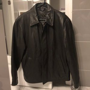Men's Jos A Bank Leather Jacket